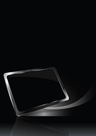 Dark vector background with modern luxury tablet Stock Vector - 16209614
