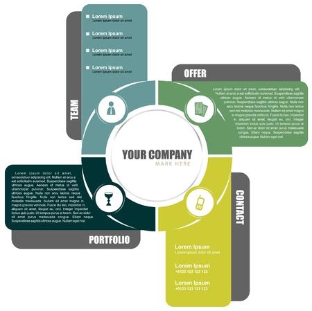 Vector cross background concept design for brochure or website Stock Vector - 17124387