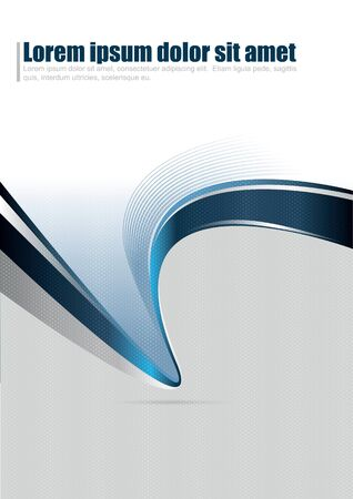 abstract background for brochure or poster with stripe wave Vector