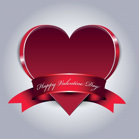 romance image:  Valentine background with big red heart and ribbon
