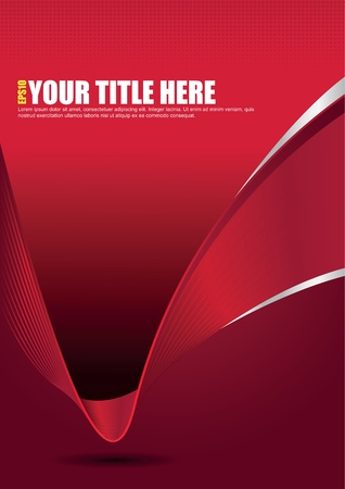 Vector abstract elegant red background with lines for brochure, poster or flyer Vector