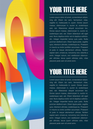 Abstract vector background for brochure and poster with color circles and place for text Stock Vector - 18285307