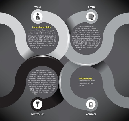 Vector infographic background with paper circles for brochure or website Stock Vector - 18910553