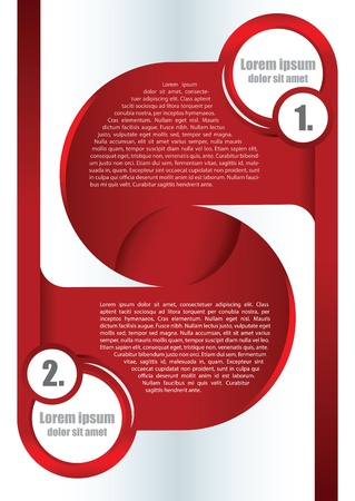 Abstract red background for brochure or poster with two spaces for texts Stock Vector - 19586555