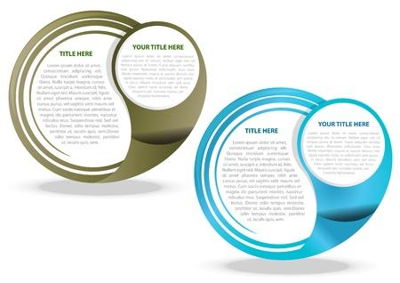 Twee kleur vector abstracte achtergrond voor tekst Vector Illustratie