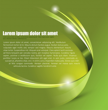 Universal Green abstract vector background with 3D effect for a brochure, poster, flyer or cover Vector
