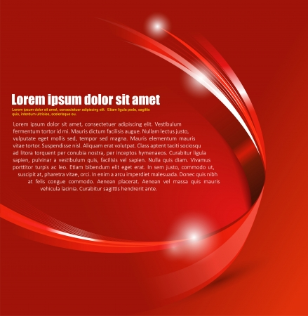 Universal red abstract vector background with 3D effect for a brochure, poster, flyer or cover Vector