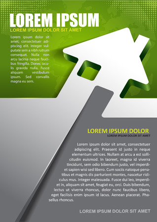 leaflet: Vector background for real estate agency with abstract house and continents.