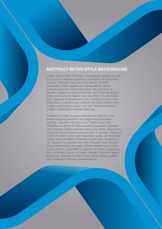 bends: Abstract vector blue retro style background for poster, flyer or brochure Illustration