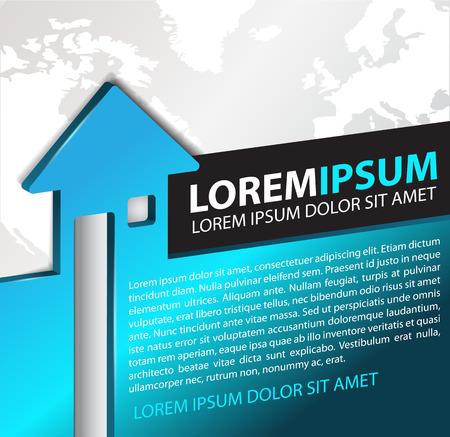 Vector achtergrond voor makelaar met abstracte 3D huis en continenten. Kan gebruikt worden voor een poster, brochure of flyer
