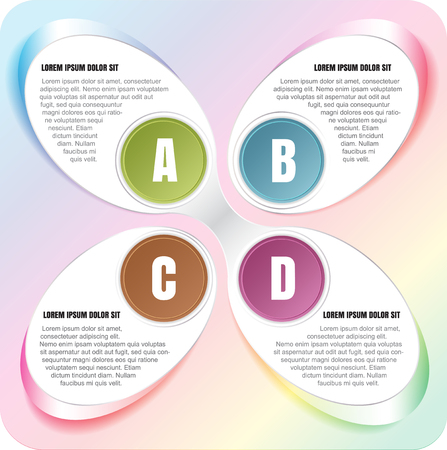 Vector abstract spectrum background of the infographic ABCD steps
