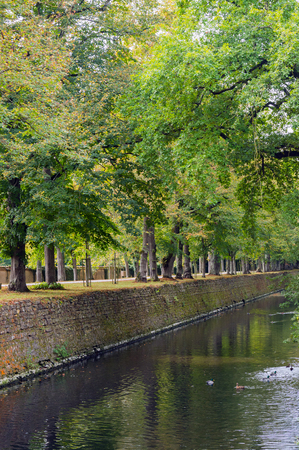 the loire: Canal near the france castle Chateau de Chenonceau, Loire Valley, France