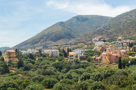 ida: Traditional village with villas and houses in Crete, Greece