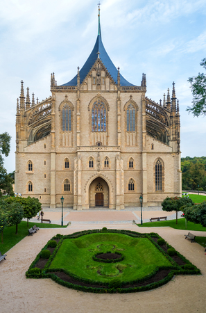 Gothic church landmark, Saint Barbara cathedral - Sv. Svata Barbora in city of Kutna Hora, Czech republic UNESCO. Reklamní fotografie
