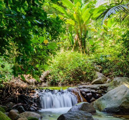 Kathu district Waterfall on Phuket island in Thailand. Stock Photo