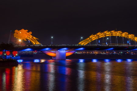 Dragon River Bridge Rong Bridge in Da Nang, Vietnam
