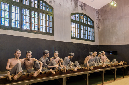 Hanoi, Vietnam - December 8, 2016: The Maison Centrale Hoa Lo Prison was nicknamed the Hilton Hanoi during the Vietnam War by the American soldiers Editorial