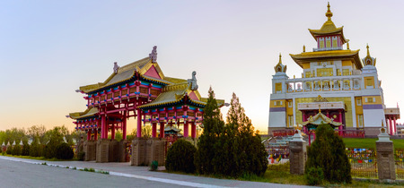 Buddhist temple Golden Abode of Buddha Shakyamuni in Elista, Republic of Kalmykia, Russia.