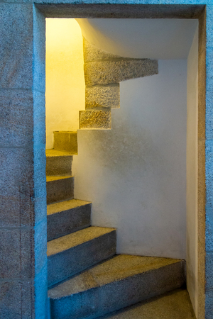 Stairs. Abstract steps. Stairs in the city. Granite stairs. Stone stairway often seen on monuments and landmarks, wide stone stairs. Imagens