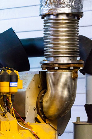 Flexible tubular exhaust pipe. Engine Exhaust Compensator.