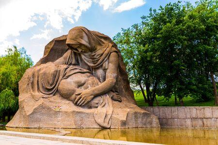 VOLGOGRAD, RUSSIA - 26 MAY 2019: Grieving Mother monument on Mamayev Kurgan. Sajtókép