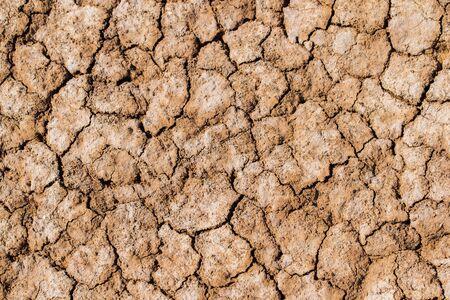 Texture background of takir soil in desert. Stock Photo