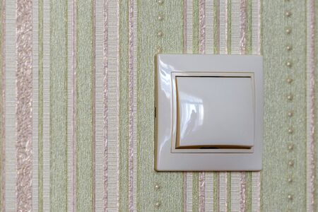 Plastic light switch, turn on or turn off the lights.