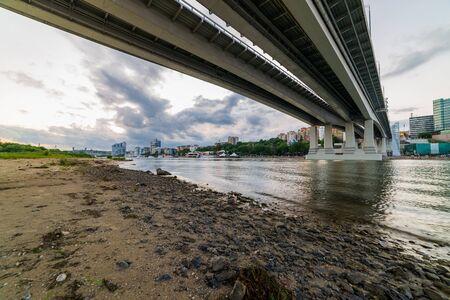 Pont sur la rivière Don. Rostov-sur-le-Don. Russie.