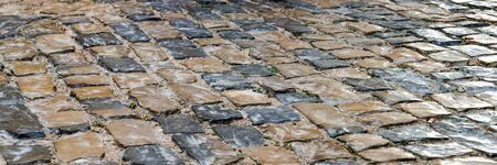 Ancient stone roadway, raised the artistic background.