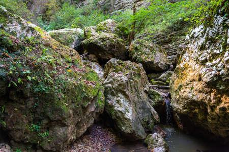 Rufabgo waterfall Heart of Rufabgo, Northern Caucasus, Russia.