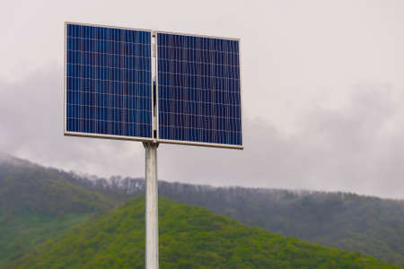 Solar panel, photovoltaic, alternative electricity source - concept of sustainable resources.