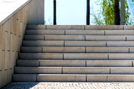 Granite stairs steps background - construction detail. Outdoor place