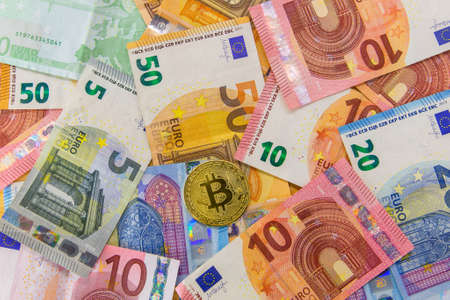 Bitcoin together other current money from Europe. New forms of investment. Digital money.