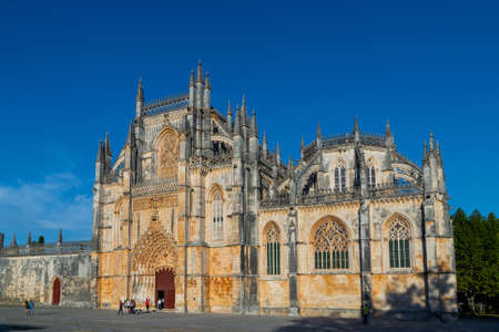 Portugal, Batalha, October 05, 2018: The Monastery of Batalha is a Dominican convent in the civil parish of Batalha, Portugal. Originally known as the Monastery of Saint Mary of the Victory. 新闻类图片