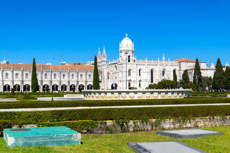 Jeronimos old Monastery in Lisbon, capital of Portugal.