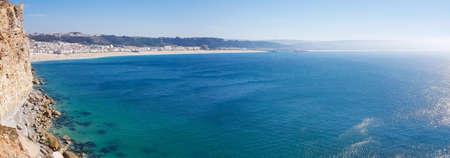 beautiful seaside resort of Nazare in Portugal. 版權商用圖片