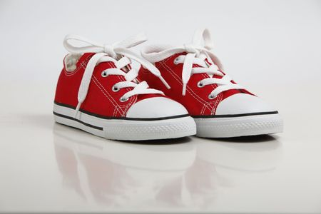 Red Shoe  Sneakers isolated on white Stock Photo