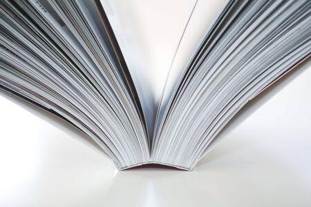 Open book on white background Stock Photo