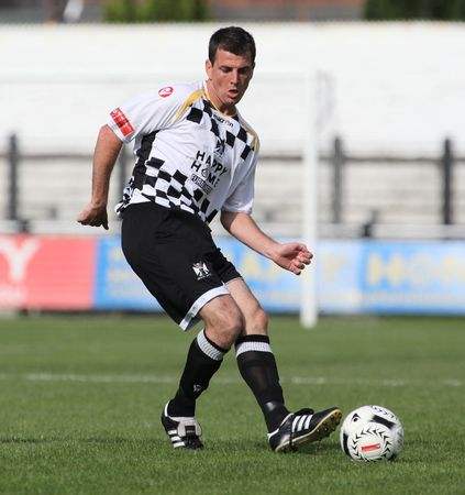 NEATH, WALES - SEPTEMBER 13: Chris Llewellyn of Neath is seen in action during their Welsh Premier League match against Bala Town at The Gnoll Stadium September 13, 2009 in Neath, Wales. Neath won 2-1