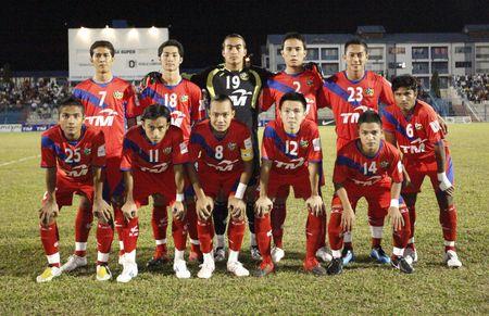 terengganu: TERENGGANU, MALAYSIA - JANUARY 30: Kuala Lumpur starting line up during their Malaysian Super League match against Terengganu January 30, 2010 in Terengganu, Malaysia