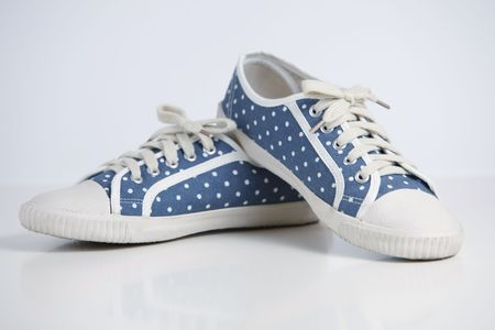 Polka dot shoe Stock Photo