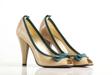High heel shoe isolated on white background Stock Photo