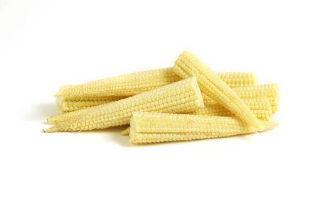 Baby corn isolated on white background