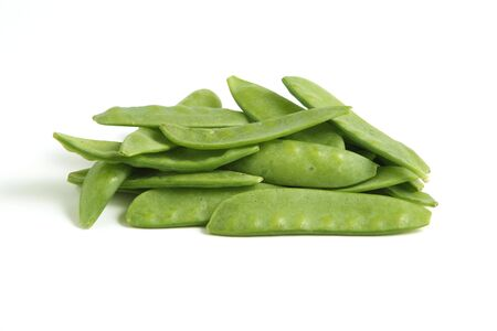 Mangetout Peas isolated on white background Stock Photo