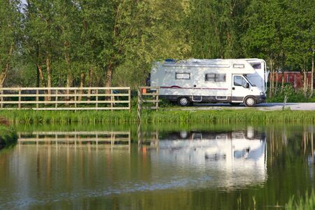 Motorhomes at camping site