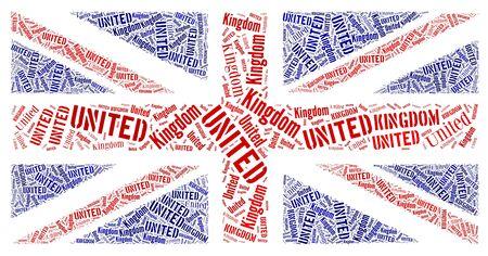 scottish flag: British National testo grafico bandiera, e il concetto di disposizione su sfondo bianco