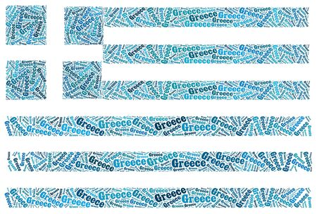 Greece national flag text graphic and arrangement concept on white background Stock Photo - 13095078