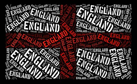 England national flag text graphic and arrangement concept on black background photo