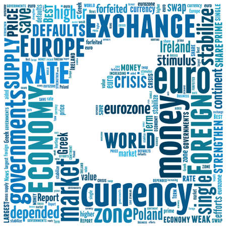 Euro Currency symbol  Text illustration design  Finance money concept