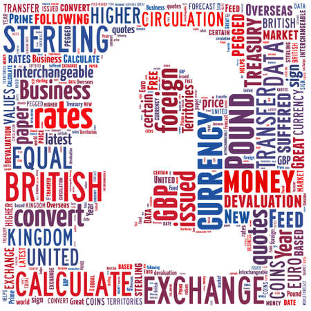 Pound Sterling Currency symbol  Text illustration design  Finance money concept Stock Photo